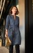 Сукня лляна А-силуету з довгими рукавами - фото 1