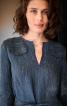 Сукня лляна А-силуету з довгими рукавами - фото 4