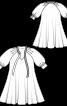 Сукня А-силуету з пишними рукавами реглан - фото 3