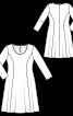 Сукня розкльошеного від талії силуету - фото 3