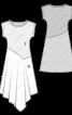 Сукня трикотажна з асиметричною спідницею - фото 3