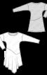 Сукня з довгими рукавами і асиметричною спідницею - фото 3