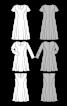 Сукня міді із розкльошеною спідницею - фото 3