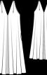 Сукня розкльошена з V-подібним вирізом - фото 3