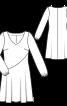 Сукня з V-подібним вирізом горловини - фото 3