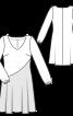 Сукня розкльошеного крою комбінована - фото 3