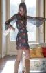 Сукня міні з рукавами розтрубами - фото 1