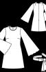 Сукня міні з рукавами розтрубами - фото 3