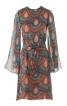 Сукня міні з рукавами розтрубами - фото 2