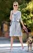 Сукня прямого крою з драпіровками - фото 1