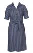 Сукня-сорочка із застібкою поло - фото 2