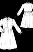 Платье отрезное с потайной застежкой на кнопки - фото 3