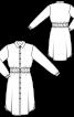 Сукня-сорочка з призбореним вшивним поясом - фото 3
