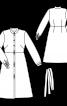 Сукня сорочкового крою з розкльошеною спідницею - фото 3
