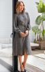 Сукня сорочкового крою з розкльошеною спідницею - фото 1