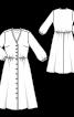 Сукня-сорочка з оздобленням мереживом - фото 3