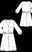 Сукня-сорочка з V-подібним вирізом горловини - фото 3