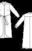 Сукня-сорочка з шовкового шифону - фото 3