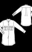 Блуза-сорочка з боковими розрізами - фото 3