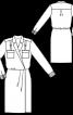 Сукня сорочкового крою із запахом - фото 3