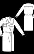 Сукня-сорочка із запахом - фото 3