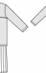 Сукня-сорочка із заниженою талією і спідницею в складку - фото 3