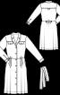 Сукня-сорочка зі складками на спідниці - фото 3