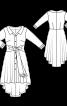 Сукня-сорочка з асиметричною спідницею - фото 3