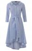 Сукня сорочкового крою з асиметричним низом - фото 2