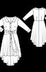Сукня сорочкового крою з асиметричним низом - фото 3