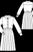 Сукня-сорочка зі спідницею в складку - фото 3