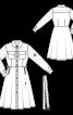 Платье-рубашка с кружевными кокетками и рукавами - фото 3