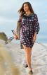 Сукня-міні з пластроном і пишними рукавами - фото 1