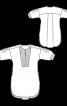 Сукня-міні з пластроном і пишними рукавами - фото 3