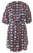 Сукня-міні з пластроном і пишними рукавами - фото 2