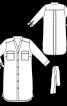 Сукня-сорочка з рукавами 3/4 - фото 3