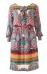 Сукня сорочкового крою з воланами - фото 2