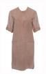 Сукня сорочкового крою з видовженою спинкою - фото 2