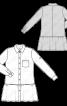 Сукня сорочкового крою із заниженою лінією талії - фото 3