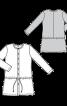 Сукня сорочкового крою з куліскою нижче лінії талії - фото 3