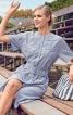 Сукня-сорочка з плетеним пластроном - фото 1