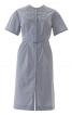 Сукня-сорочка з плетеним пластроном - фото 2