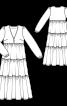 Сукня-максі із багатоярусною спідницею - фото 3