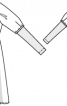 Сукня силуету ампір з довгими рукавами - фото 3