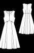 Сукня міді без рукавів - фото 3