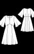 Платье силуэта ампир с полудлинными рукавами-крылышками - фото 3