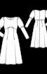 Сукня силуету ампір з пишними рукавами - фото 3