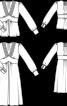 Сукня силуету ампір з глибоким вирізом і пишними рукавами - фото 3