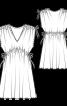 Сукня-туніка з кулісками на плечах - фото 3