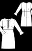Платье трикотажное силуэта ампир с воланами на рукавах - фото 3